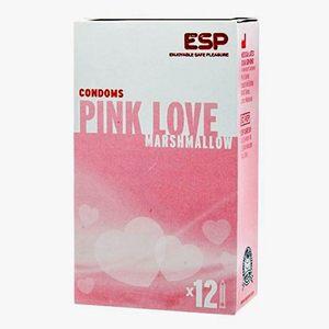 12 condones Pink Love Marshmallow ¿A qué saben las nubes?