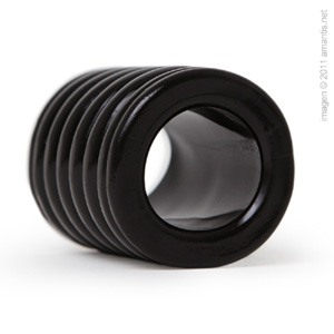 Brazalete negro de presión amplia para el pene
