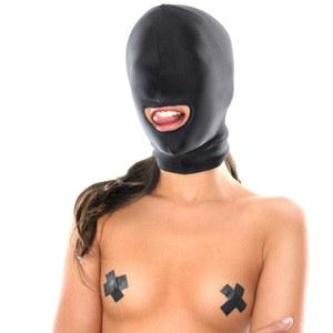 Máscara de Bondage unisex con orificio