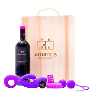 amantis deSire #3, pack placer completo con vino