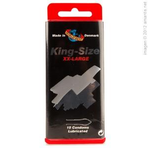 King Size, 10 Condones XXL