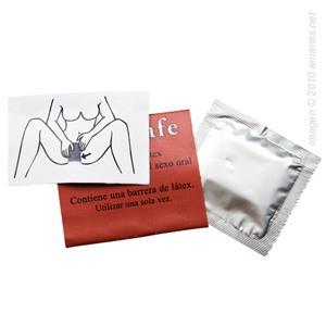 Cuadrante de látex para sexo oral