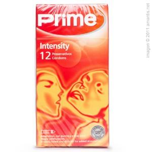 Prime intensity, 12 condones con puntos y estrías