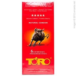 Toro, 6 preservativos extra fuertes y lubricados