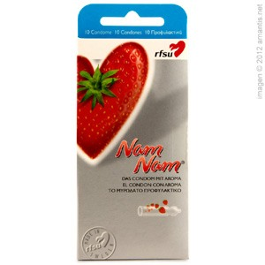 ÑamÑam, condón sabor a fresa