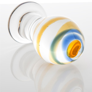 LATTE, el plug anal regordete de cristal de amantis