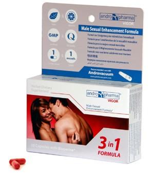 Andro Pharma Vigor, 30 cápsulas potenciadoras de la líbido
