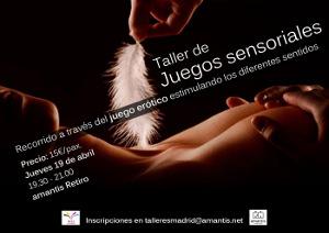Taller de Juegos Sensoriales [Madrid 19/04/2018]