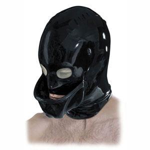 Máscara de látex con copa embudo