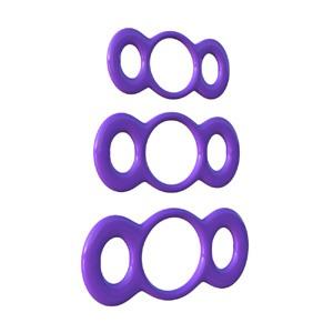 Trío de anillas elásticas de liberación rápida