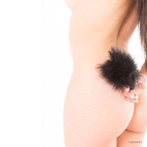 Aplicador de caricias eróticas con plumita