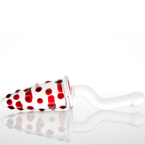 AMANITA ROTADORA anal o vaginal de vidrio soplado