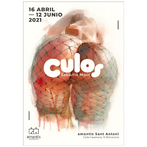 Cartel de la exposición CULOS de Sebastia Martí en Barcelona