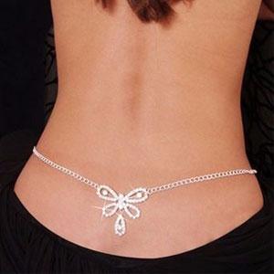 Cadena para cintura mariposa sexy, ¿qué flores resaltarás?