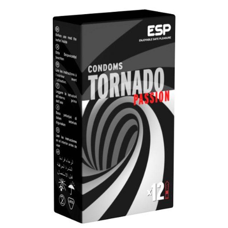 Tornado, 12 condones para experiencias asombrosas