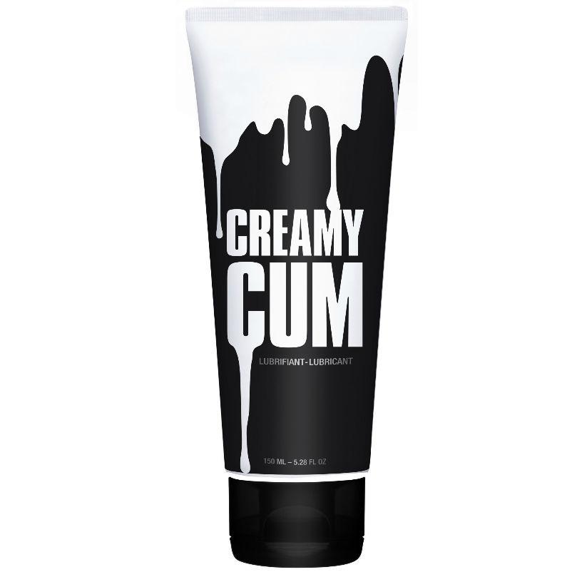 Lubricante CREAMY CUM 150ml, Tan real como el semen