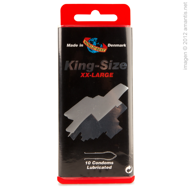 King Size, 10 Condones XXL