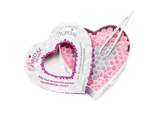 Corazón nupcial, ¡más de 100 pruebas eróticas!