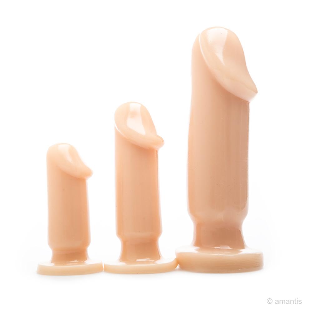 Kit de 3 plugs anales realistas