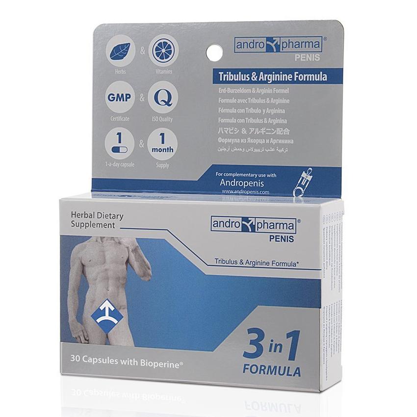 Andro Pharma Penis, 30 cápsulas para el alargamiento del pene