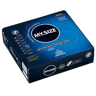 MY.SIZE, 36 condones alemanes en tallas diferentes