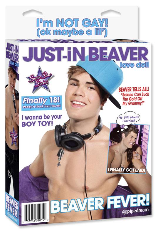 Muñeco hinchable de Just-in Beaver
