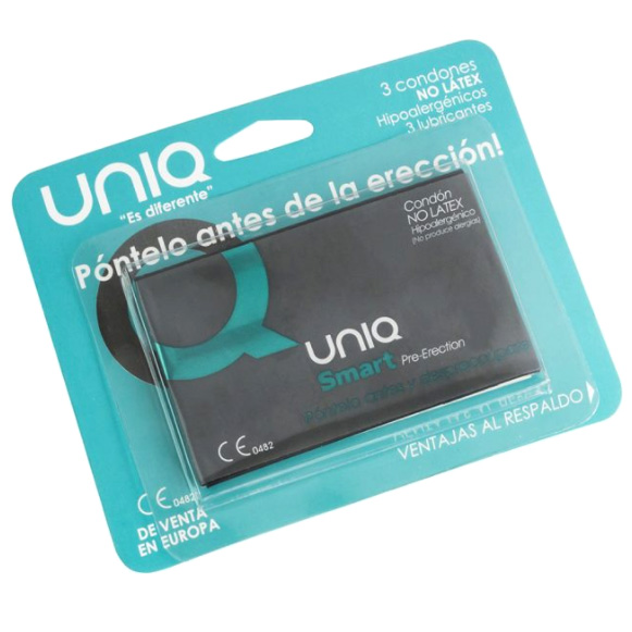 UNIQ SMART PRE-ERECTION (3 condones) ¡PÓNTELO SIN ERECCIÓN!