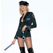 Disfraz de Policia ajustado de 5 piezas