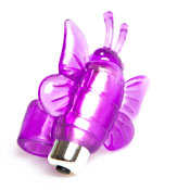 Anilla con mariposa vibradora con 7 modos de vibraci�n