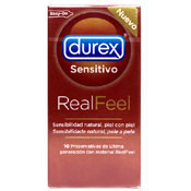 Durex Real Feel, sin látex. 12 unidades