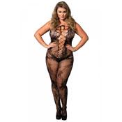 Body entero de encaje floral con escote corset