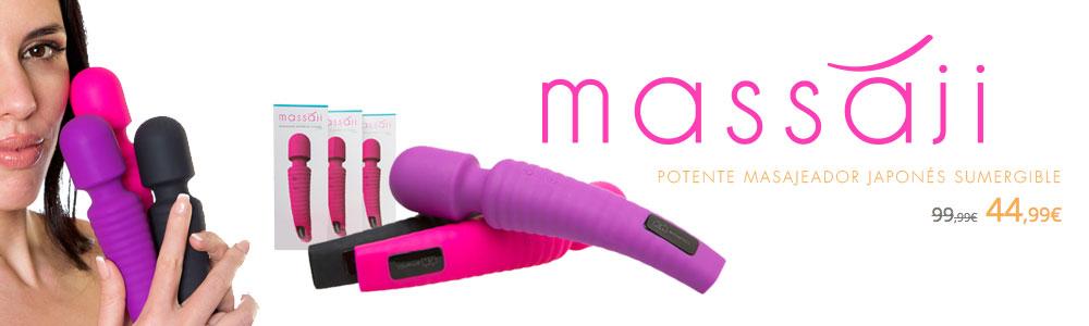MASSAJI, Potente masajeador japonés sumergible de silicona