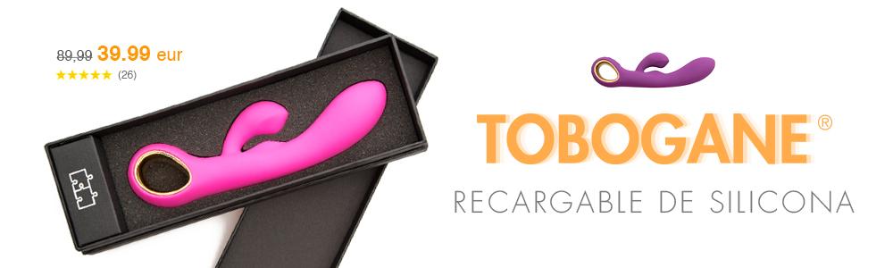 TOBOGANE®, doble vibrador recargable de silicona de amantis.net