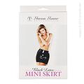 Minifalda negra de látex de Sharon Sloane
