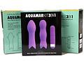 Kit Aquamar 3 en 1, vibrador con fundas de silicona