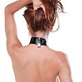 Collar de cuero con cadenas ajustables para pezones