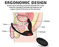 FALCON, Estimulador de próstata con anilla doble y remoto