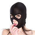 Máscara de bondage unisex triple orificio