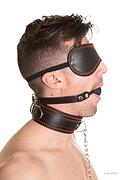 Kit Obediencia Deluxe. Conjunto de antifaz, mordaza y collarín